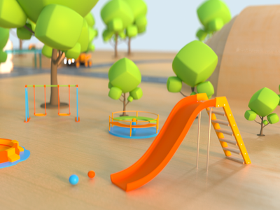 Playground 003 octane render cinema 4d animation 3d art 3d model 3d animation 3d 3d modeling