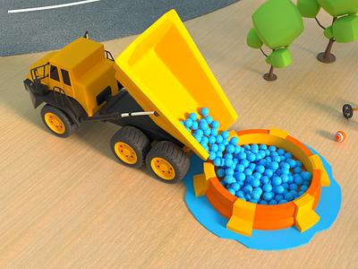 Playground 004 octane render cinema 4d animation 3d art 3d model 3d animation 3d 3d modeling