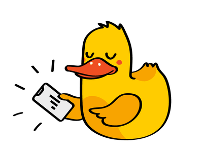 Illustration for the Dataduck 2 charachter design web illustration duck branding design corporate icon vector