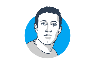 Mark the trader portrait facebook trader trading vector illustration icon mark zuckerberg