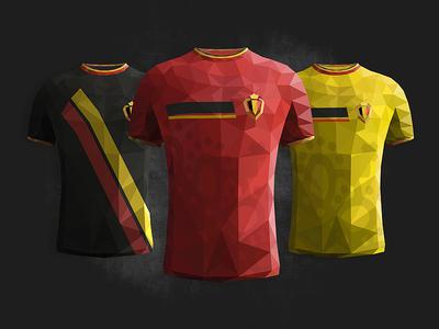 Wc2014 Belgium polygon triangulation low poly wport football soccer