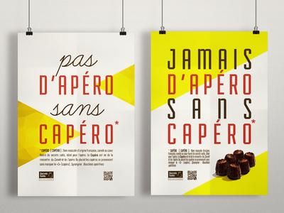 Capéros Poster / Flyers food poster flyer print identity