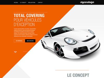 My Car Design (wip) web webdesign car speed auto automobile ui interface orange design triangle