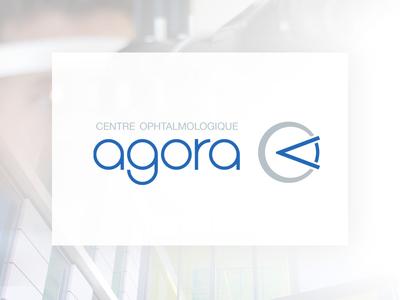 COA - Centre Ophtalmologique Agora eye medical blue brand design identity logo