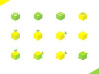 Lemongo (yes, a Lemon Logo) fruit acid green citron lime lemon yellow logo