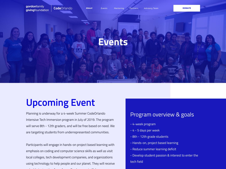 Code Orlando ux ui web design webdesign web