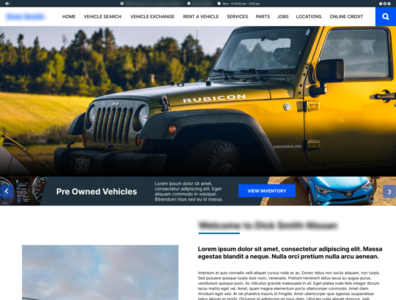 Vehicle Dealership Redesign