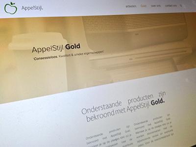 Appelstijl Gold gold web design flat products