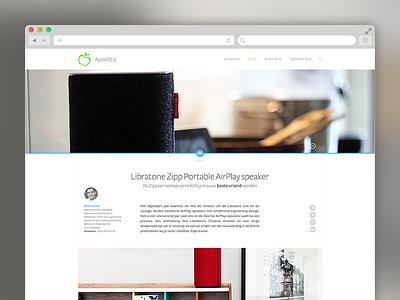 Appelstijl article page post magazine products flat design web photo ui interface article blog