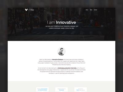 Voetsdesign Homepage flat web ui portfolio home dark white typography photography website