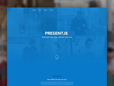 Presentje case study case study blue teal orange product one page app visual