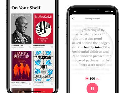 Speed-Reading UX app mobile skeumorphism typography reading ux ui