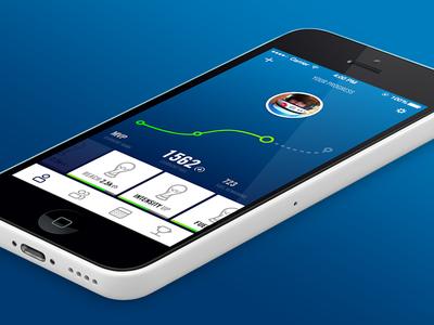 Sports Concept sport ui app fitness workout blue mobile ios gradient