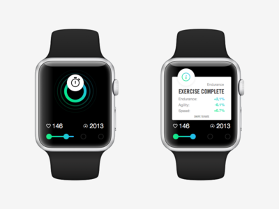 Apple Watch Activity watch apple ui wearable blue teal fitness concept