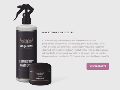 Angelwax Product product cases skeumorphic grey purple commerce packaging layout interface ui cta texture