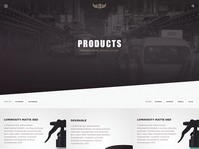 Category page ui web product black packaging wip grid commerce category landing page ux white