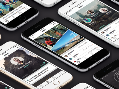 Nike Thesis Concept profile feed social team stats ux ui ios mobile app concept white