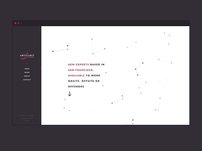 Homepage V2 ui ux particles homepage landing contrast white black red typography