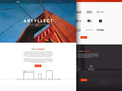 Homepage Design V3 illustrations photography orange teal portfolio homepage ui ux flat icons landing web