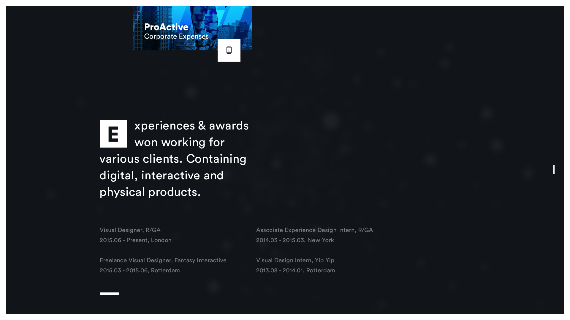 Portfolio new awards
