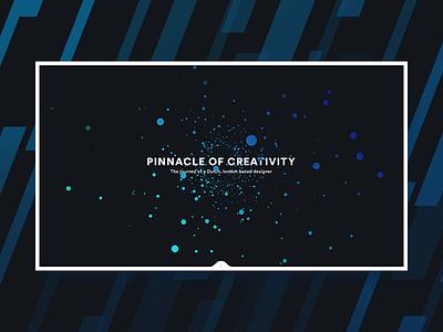 Portfolio Landing fractal homepage teal blue parallax iconography typography particles interface dark ui portfolio