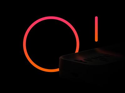 Tryst Teaser branding vector reflection black gradient orange glow product teaser