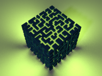 Voxel cube maze