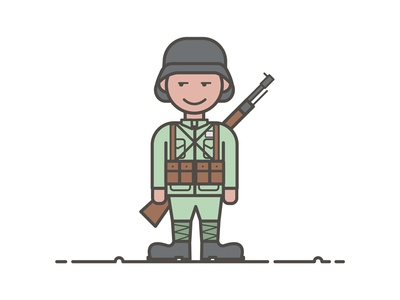 Soldiers design illustration army central the china soldiers
