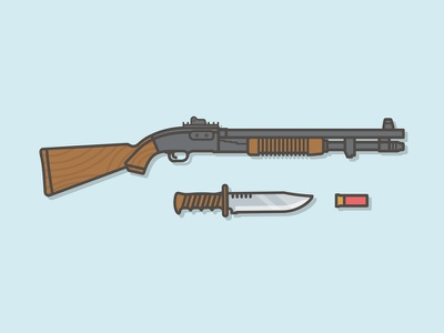 Shotguns design illustration saber shotguns
