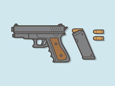 Pistol illustration weapons pistol