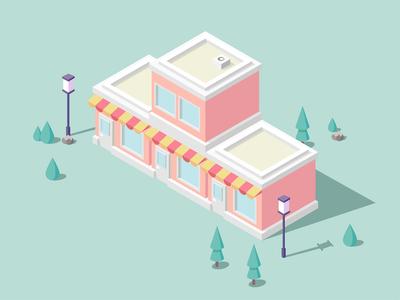The supermarket 3d design illustrations supermarket the