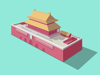 Tian An Men gate design illustration china gate