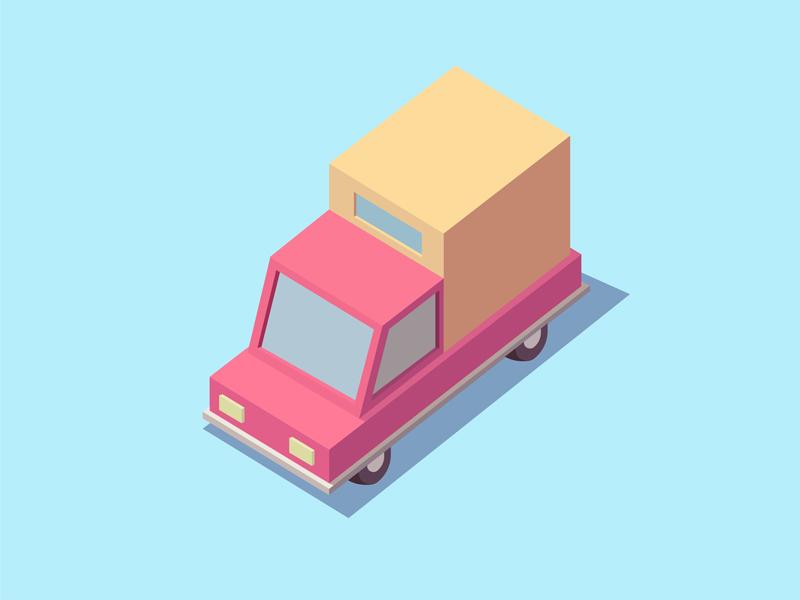 Freight car design illustration car freight