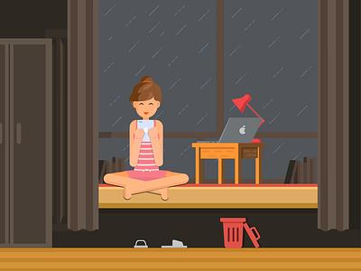 My love design illustrations girl love