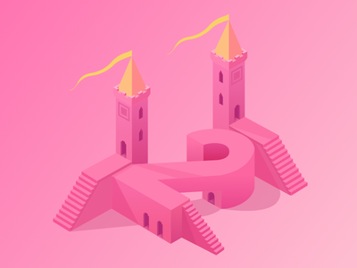 2x Dribbble Invites design ui 2.5d invites dribbble