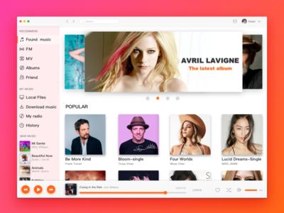 Music player design ui mac player music