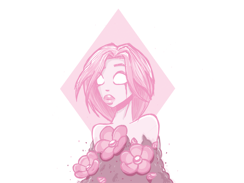 Pink Diamond inspiration giant woman girl palaquin queen rose quartz rose pink steven universe illustration pink diamond