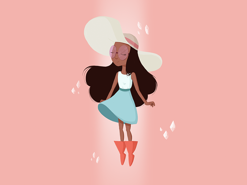 Balance is the key mindful happy pearl balance peace floating crystal gems gems steven universe connie