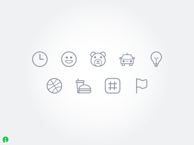 Icons for emojis categories icons