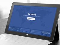 Facebook Windows 8 app - login
