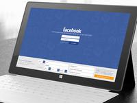 Facebook Windows 8 app - login update