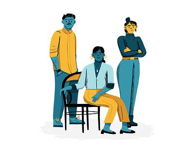 Millennials to Watch magazine character people art texture editorial drawing illustration millennials