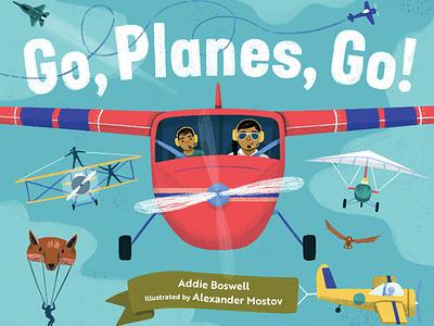 Go, Planes, Go! : Cover Reveal texture sky plane vehicles planes children kidlit art art kidlit picture book drawing illustration
