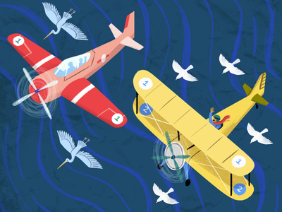 Go, Planes, Go! Spread 2 boardbook picture book kidlit art kidlit ocean planes plane art people drawing illustration