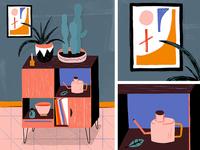 Plants & Cabinet