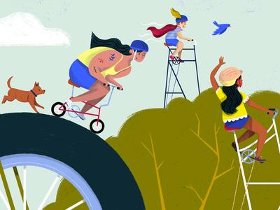 Go, Bikes, Go! - Spread 1