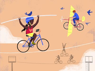 Go, Bikes, Go! - Spread 5