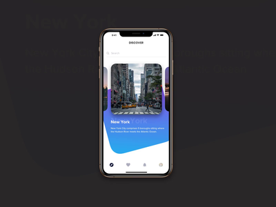 Scrolling concept animation event animation 2020 design iphone ux ios app ui