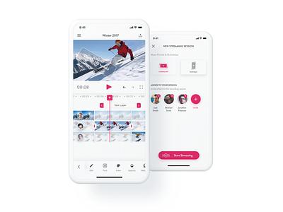 CrowdFilm App white clean design video video app 2018 ux app ios ui
