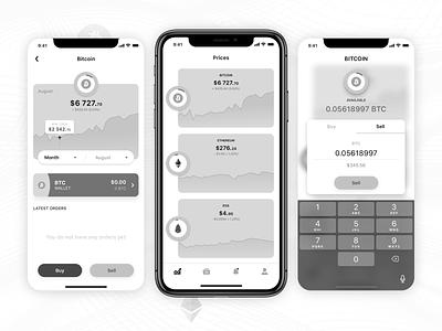 Cryptocurrency exchange App design user experience 2018 crypto finance app crypto exchange ux